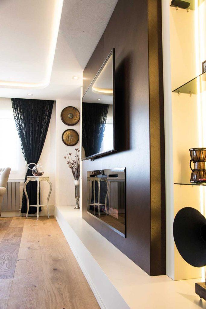 iç mimarlık ev tasarım şömine inşaat
